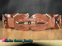 Copper and Sterling Silver Wire Woven by RoSanCustomJewelry