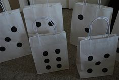 gift bags for bunco Bunco Themes, Event Themes, Casino Theme Parties, Casino Party, Bunco Ideas, Party Themes, Party Ideas, Gift Ideas, Bunco Prizes