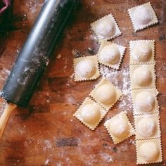 Homemade Sweet Potato & Mascarpone Ravioli with caramelized onions