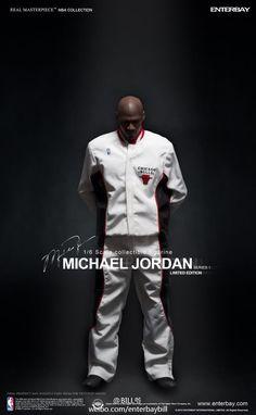 "Michael Jordan 1/6 Scale ""I'M BACK"" Home #45 Figurine by ENTERBAY"