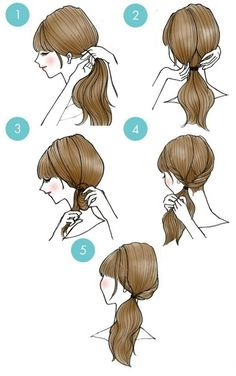 20 cute hairstyles that are extremely easy to do - hairstyles 20 süße Frisuren, die extrem einfach zu tun sind – Frisuren Modelle 20 cute hairstyles that are extremely easy to do - Cute Quick Hairstyles, Side Ponytail Hairstyles, Elegant Hairstyles, Cute Hairstyles, Everyday Hairstyles, Hairstyle Ideas, Hairstyle Tutorials, Long Length Hair, Hair Lengths