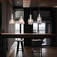 Bouteille pendant de conception, 4 Lumière, Caractéristiques Verre artistique Souffler par la main - EUR € 169.99