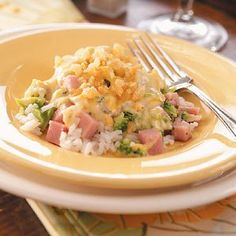 Ham and Broccoli Supper Recipe -I found this recipe in an old Amish cookbook a while back. It combines lots of my family's favorite foods, like ham, broccoli and rice, and it makes a very tasty meal.