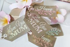 Mother's Day Gift Tags Free Printable from SassabyParties.com