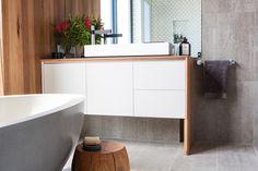 Kyal and Kara Main Bathroom Fans Vs FavesThe Block Shop - Channel 9 Bathroom Renos, Laundry In Bathroom, Bathroom Renovations, Bathroom Ideas, Bathroom Vanities, Bathroom Design Inspiration, Bathroom Interior Design, Kitchen Inspiration, Modern Interior