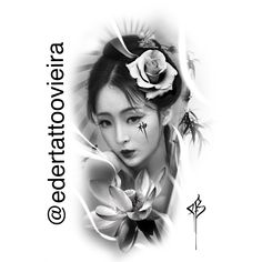 Geisha Tattoos, Geisha Tattoo Design, Henna Tattoo Hand, Arm Tattoo, Tattoo Sleeve Designs, Sleeve Tattoos, Tattoo Studio, Catrina Tattoo, Girl Face Tattoo