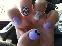Cute lavender nails