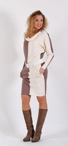 Smetanovohnědé  šaty