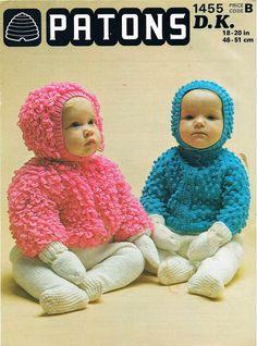 ff2df3163 Baby Knitting Pattern Baby Loop Stitch Cardigan Bonnet Baby Loopy ...