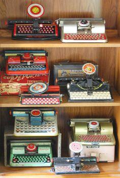 Vintage Toy Typewriter Collection