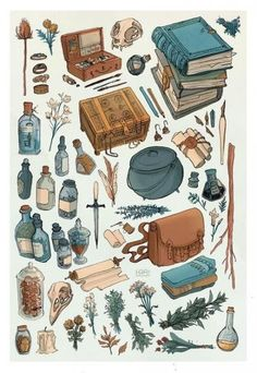 Witch Aesthetic, Aesthetic Art, Kalender Design, Prop Design, Witch Art, Book Of Shadows, Art Drawings, Drawing Art, Illustration Art Drawing