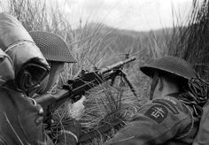Polish commando troops exercising in Scotland United Kingdom 1943; note Bren light machine gun without magazine.