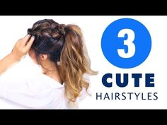 Mohawk Pony BRAID Hairstyle | CUTE HAIRSTYLES for Medium Long Hair Tutorial - YouTube