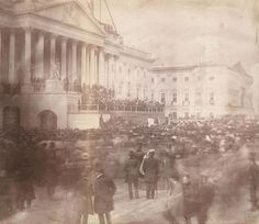 The first-known photograph of a presidential inauguration shows James Buchanan at the east front of the U. Capitol during his March 1857 inauguration. Library of Congress/Handout via REUTERS