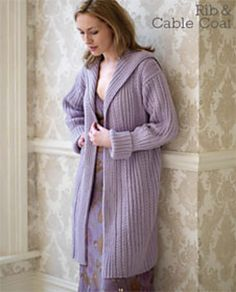 Ravelry: Rib & Cable Coat pattern by Debbie Bliss