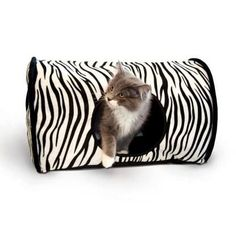 "K&H Pet Products Kitty Camper Bed Zebra 13"""" x 18"""" x 10"""""