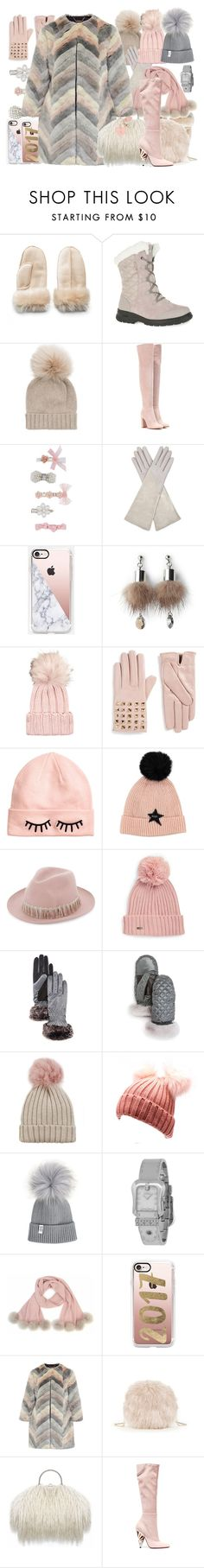 """""""So Cozy: Winter Boots"""" by yours-styling-best-friend ❤ liked on Polyvore featuring Mudd, Kamik, Inverni, Gianvito Rossi, Monsoon, Aquatalia by Marvin K., Casetify, Simons, Valentino and H&M"""