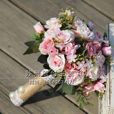 2016 New Vintage Garden Wedding ''Handmade'' Bouquet  Flower Bridesmaid Bridal