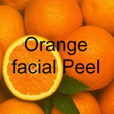 DIY Orange Facial Peel (Use any citrus fruit such as lemon, kiwi, lime). Vitamin C and citrus acid along with sugar makes a awesome exfoliant and also helps lighten pigmentation and brighten the complexion.