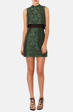 Topshop Retro Lace Dress available at #Nordstrom