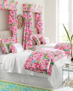 Lilly Pulitzer bedroom. My future daughter will have this.