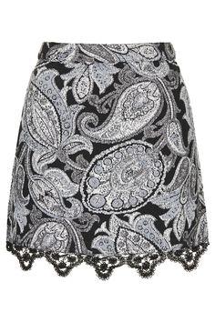 Paisley Jacquard Pelmet Skirt