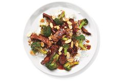 Scatter roasted peanuts over this classic Chinese stir-fry to add an extra crunch. Get the recipe for Beef and Broccoli Stir-Fry.