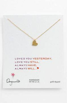 Dogeared 'Sparkle Heart' Pendant Necklace available at Nordstrom #valentine #sparkle #loveyou