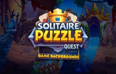 Solitaire | Game backgrounds on Behance Food Logo Design, Ui Design, Solitaire Games, Logo Samples, Plane Design, Game Title, App Design Inspiration, Game Background, Game Concept Art