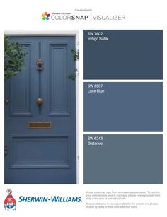 The Best Sherwin Williams Gray Paint Colors - West Magnolia Charm With so many Sherwin Williams gray paint colors, how do you choose one? I went ahead and found the best of the best to share with you. Exterior Door Colors, Front Door Paint Colors, Painted Front Doors, Grey Paint Colors, House Paint Exterior, Paint Colors For Home, Blue Front Doors, Blue Doors, Beige House Exterior