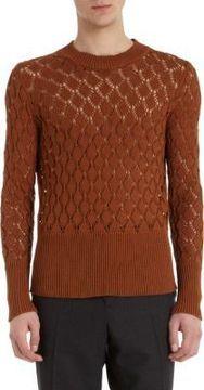 Raf Simons Diamond Open Knit Sweater