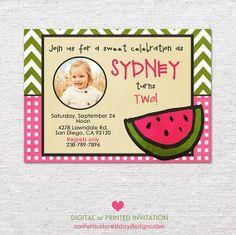 Watermelon Summer Birthday Invitation Photo by ConfettiColoredDay