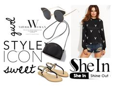 """""""SheIn Top"""" by vidushi2002 ❤ liked on Polyvore"""