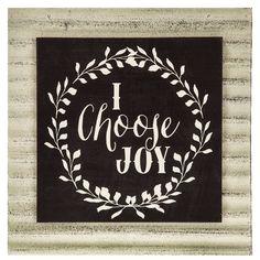 I Choose Joy MDF & Metal Wall Decor