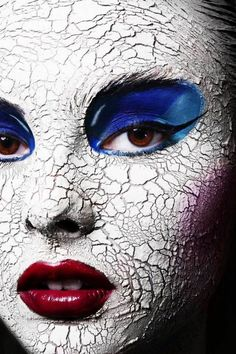 "Creative makeup and beauty ""Disintegration"" by Serge Sarkisoff."