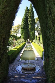 Alhambra, Spain - gardens and fountains.