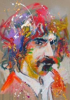 """Saatchi Art Artist Marta Zawadzka; Painting, """"Frank Zappa"""" #art"""