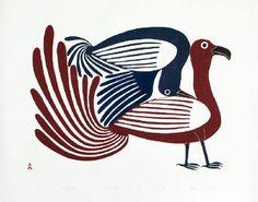 Artist: Kenojuak  Ashevak, Title: Rollicking Birds, 1994 - click for larger image
