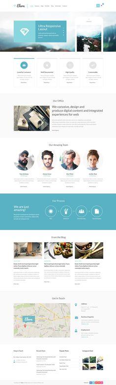 Elara - Multipurpose WordPress Theme #wordpressthemes #html5templates #responsivedesign #html5themes #newwordpressthemes