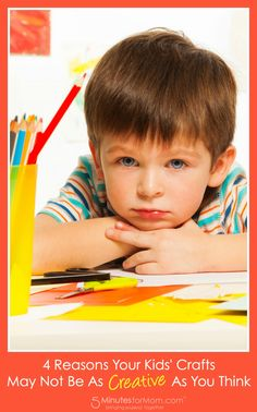 4 Reasons Your Kids Crafts May Not Be As Creative As You Think - A little shocking and almost upsetting since this is basically how most of us and most schools teach our kids, but important to consider...
