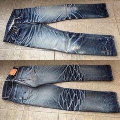 "Reposting @robindenim: ... ""Samurai Jeans S710XX - 14 months, 1 sea wash @mrizky_denimevo"" Denim Boots, Black Denim Jeans, Nudie Jeans, Raw Denim, Men's Jeans, Edwin Jeans, Face Men, Denim Trends, Western Shirts"