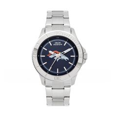 Denver Broncos Ladies Stainless Watch w/ Navy Dial