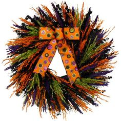 "I pinned this 22"" Preserved Trick-or-Treat Wreath from the Floral Treasure event at Joss and Main!"