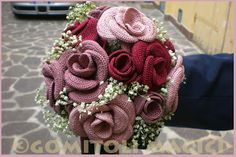 knitted rose bouquet