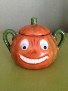 Antique Halloween Sugar Bowl