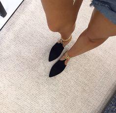 Elle Ferguson. Chanel Slipper Flats