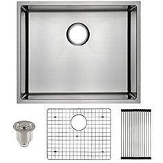 harrahs 23 inch kitchen sink 23x18 3x10 inch 11 gauge lips easy drain stainless frigidaire undermount stainless steel kitchen sink 10mm radius      rh   pinterest com