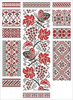 Старинные схемы для вышивания: Орнаменты