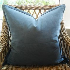 Salt Water Scatter Cushion with Oxford Edge Available including or excluding feather and down inner and in various sizes Cotton, Linen - Cold Wash Lead Scatter Cushions, Throw Pillows, Salt And Water, Indoor, Boutique, House, Ideas, Interior, Toss Pillows