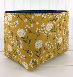 Fabric Storage Baskets, Fabric Bins, Basket Storage, Diaper Storage, Toy Storage, Basket Organization, Organizer Bins, Organization Station, Shabby Chic Storage